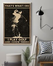 That's What I Do Golf 16x24 Poster lifestyle-poster-1