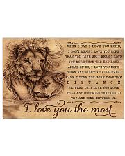 Lion I Love You The Most 17x11 Poster front