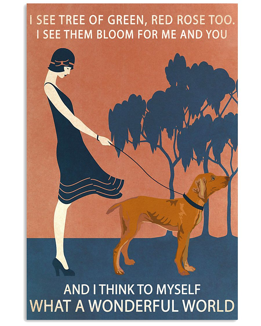 Vintage Girl Wonderful World Vizsla 11x17 Poster