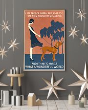 Vintage Girl Wonderful World Vizsla 11x17 Poster lifestyle-holiday-poster-1