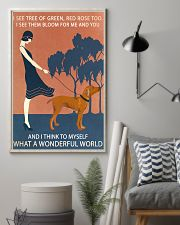 Vintage Girl Wonderful World Vizsla 11x17 Poster lifestyle-poster-1