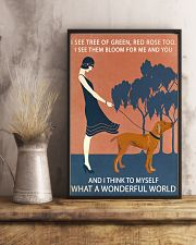 Vintage Girl Wonderful World Vizsla 11x17 Poster lifestyle-poster-3