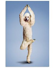 Yoga Pose Poodle 11x17 Poster front