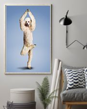 Yoga Pose Poodle 11x17 Poster lifestyle-poster-1