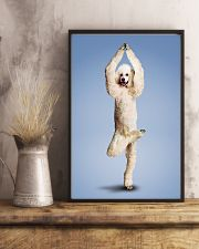 Yoga Pose Poodle 11x17 Poster lifestyle-poster-3