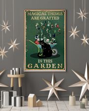 Retro Green Magical Things Garden Black Cat Herb 11x17 Poster lifestyle-holiday-poster-1