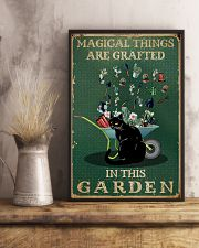 Retro Green Magical Things Garden Black Cat Herb 11x17 Poster lifestyle-poster-3