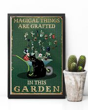 Retro Green Magical Things Garden Black Cat Herb 11x17 Poster lifestyle-poster-8