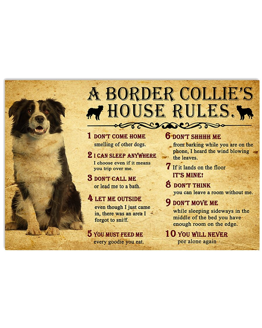 A Border Collie's House Rules 17x11 Poster
