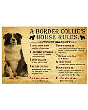 A Border Collie's House Rules 17x11 Poster front