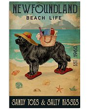 Beach Life Sandy Toes Newfoundland 11x17 Poster front
