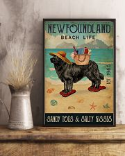 Beach Life Sandy Toes Newfoundland 11x17 Poster lifestyle-poster-3