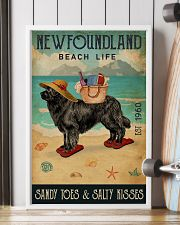 Beach Life Sandy Toes Newfoundland 11x17 Poster lifestyle-poster-4