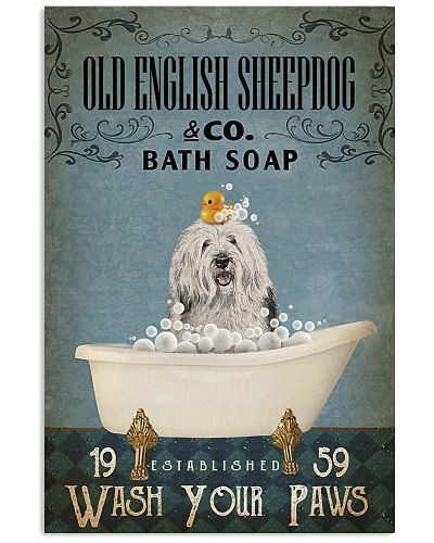 Vintage Bath Soap Old English Sheepdog