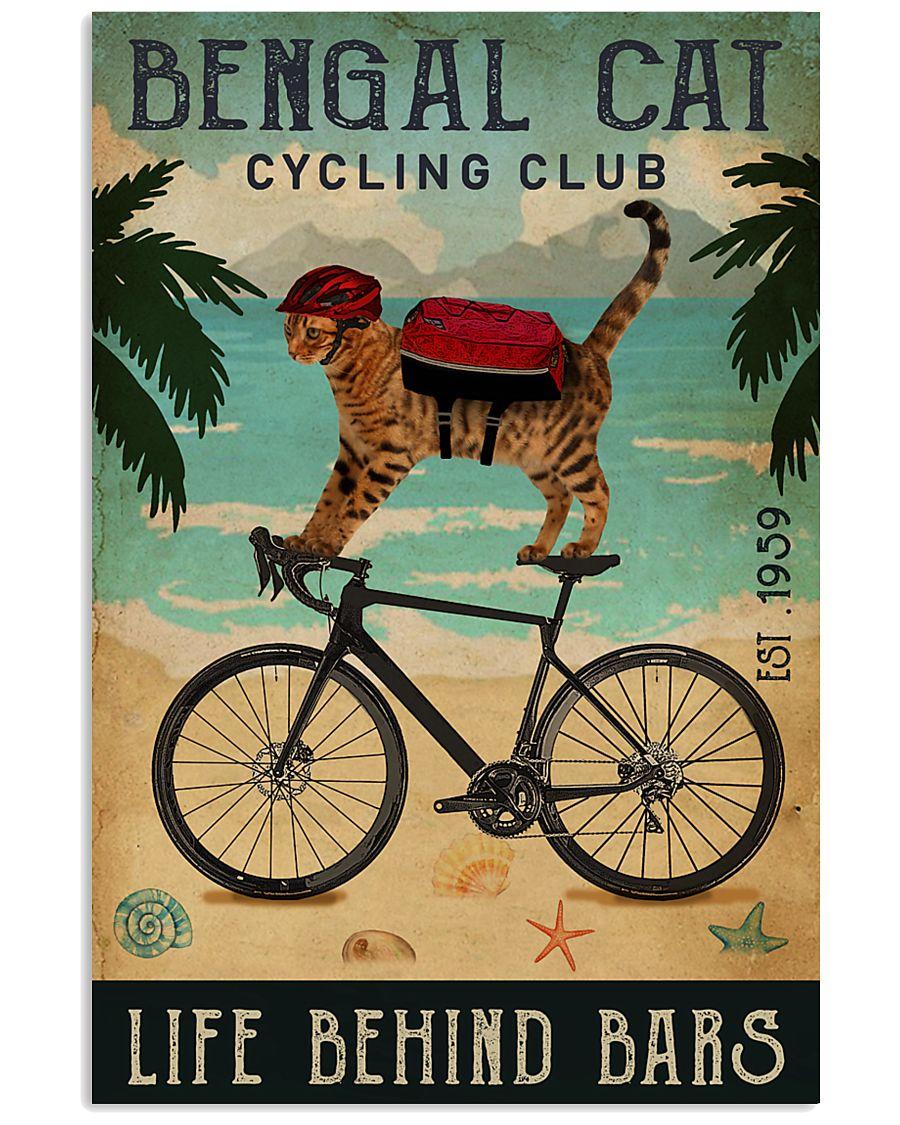 Cycling Club Bengal Cat 11x17 Poster