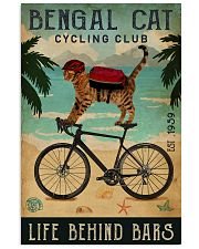 Cycling Club Bengal Cat 11x17 Poster front