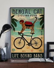 Cycling Club Bengal Cat 11x17 Poster lifestyle-poster-2