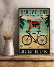 Cycling Club Bengal Cat 11x17 Poster lifestyle-poster-3