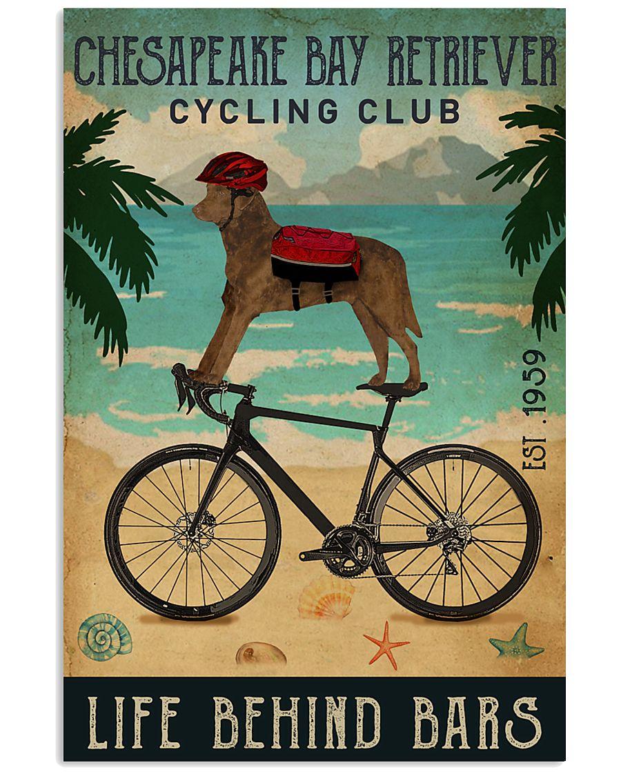 Cycling Club Chesapeake Bay Retriever 11x17 Poster