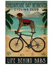 Cycling Club Chesapeake Bay Retriever 11x17 Poster front