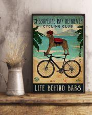 Cycling Club Chesapeake Bay Retriever 11x17 Poster lifestyle-poster-3