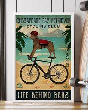 Cycling Club Chesapeake Bay Retriever 11x17 Poster lifestyle-poster-4
