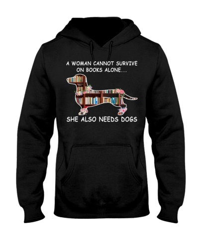 A Woman Cannot Survive On Books Dachshund