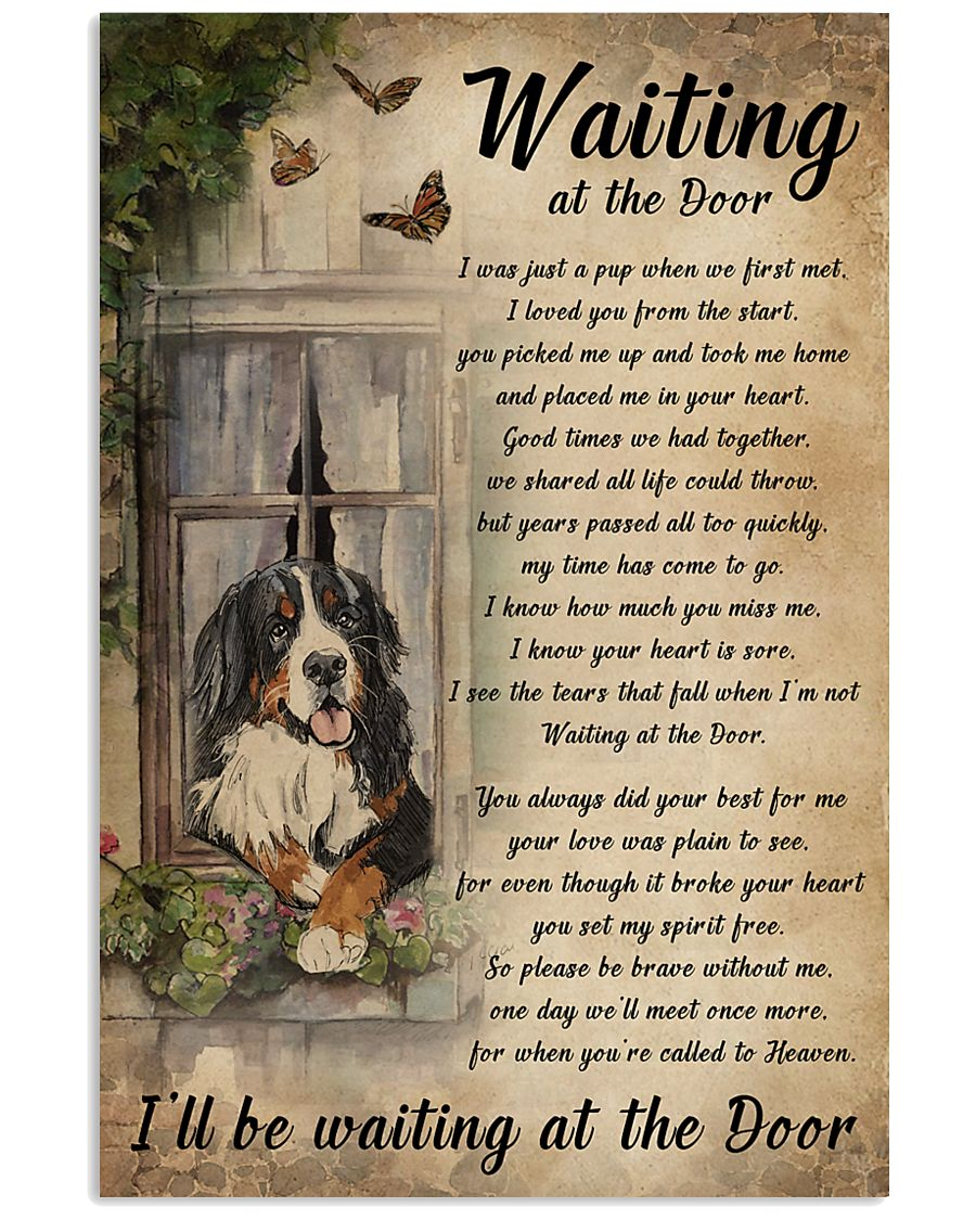 Vintage Waiting At The Door Bernese Mountain Dog 11x17 Poster