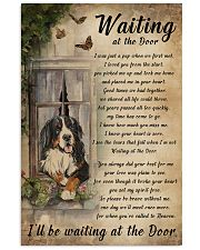 Vintage Waiting At The Door Bernese Mountain Dog 11x17 Poster front