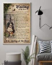Vintage Waiting At The Door Bernese Mountain Dog 11x17 Poster lifestyle-poster-1