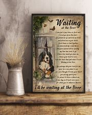 Vintage Waiting At The Door Bernese Mountain Dog 11x17 Poster lifestyle-poster-3