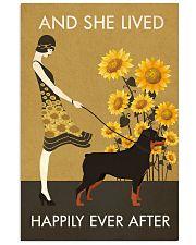 Sunflower Vintage Girl Lived Happily Rottweiler 11x17 Poster front