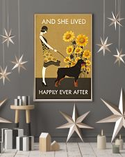 Sunflower Vintage Girl Lived Happily Rottweiler 11x17 Poster lifestyle-holiday-poster-1