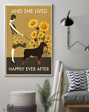 Sunflower Vintage Girl Lived Happily Rottweiler 11x17 Poster lifestyle-poster-1