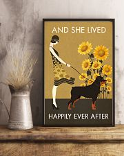 Sunflower Vintage Girl Lived Happily Rottweiler 11x17 Poster lifestyle-poster-3