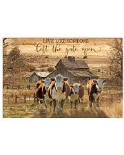 Hereford Cow The Gate Open 17x11 Poster front