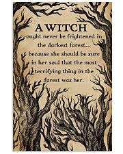 A Witch Ought Never To Be Frightened  11x17 Poster front