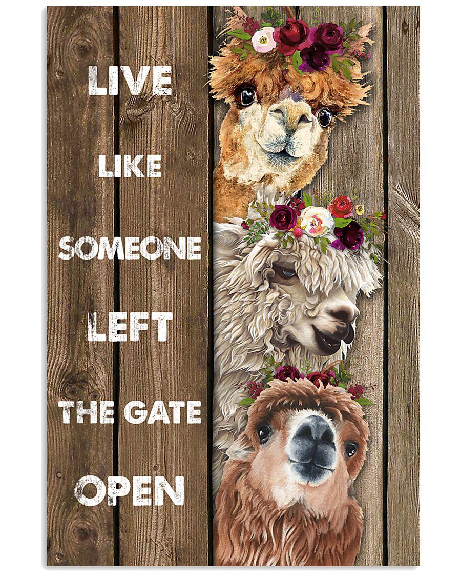 Wood Piece Live Like Someone Alpaca 11x17 Poster