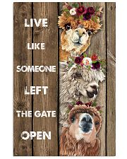 Wood Piece Live Like Someone Alpaca 11x17 Poster front