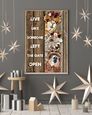 Wood Piece Live Like Someone Alpaca 11x17 Poster lifestyle-holiday-poster-1