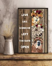 Wood Piece Live Like Someone Alpaca 11x17 Poster lifestyle-poster-3