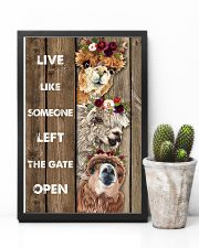 Wood Piece Live Like Someone Alpaca 11x17 Poster lifestyle-poster-8