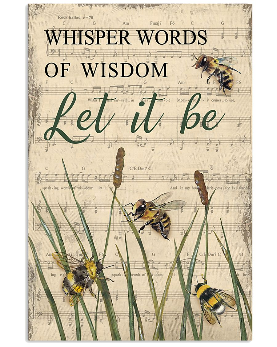 Music Let It Be Grass Bee 11x17 Poster