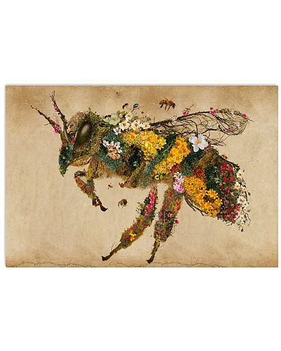 Vintage Floral Honey Bee