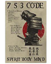 Details about  /Samurai 7 5 3 Code Spirit Body Mind Poster No Frame