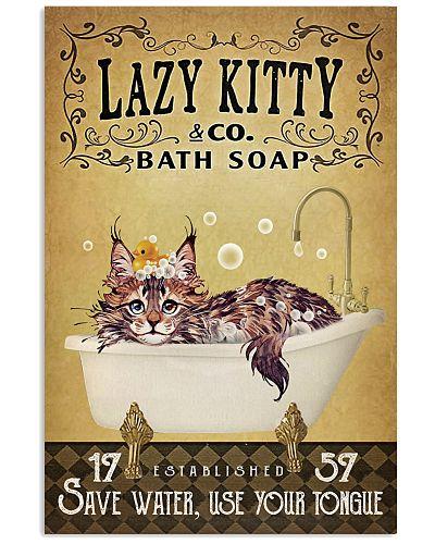 Yellow Bath Soap Maine Coon