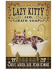 Yellow Bath Soap Maine Coon 16x24 Poster front