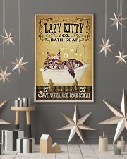 Yellow Bath Soap Maine Coon 16x24 Poster lifestyle-holiday-poster-1