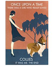 Vintage Girl Once Upon A Time Collie 11x17 Poster front