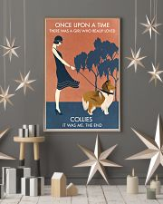 Vintage Girl Once Upon A Time Collie 11x17 Poster lifestyle-holiday-poster-1